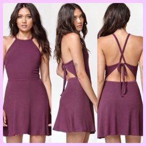 💜 Kendall and Kylie Open Back Dress